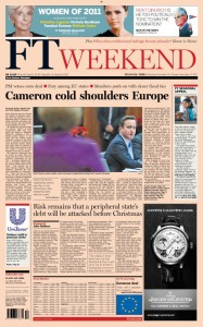 2011-12-10 Financial Times front page